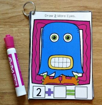 Simple Addition Activities: Monster Math Draw and Flip Books