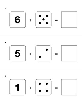 Simple Addition Assessment