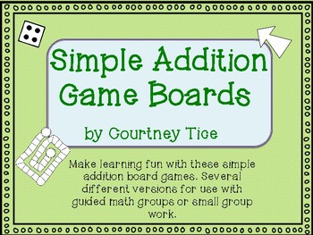 Simple Addition Board Game
