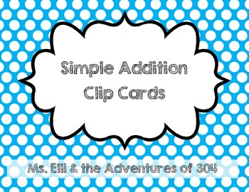 Simple Addition Clip Cards