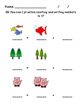 Simple Addition - Counting and Writing Numbers