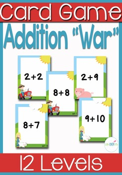 "Addition Facts 1-10 ""War"" Card Games and printables"