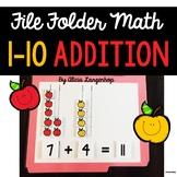 Simple Addition File Folder Game
