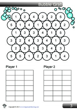 Simple Addition Game - Bubble Grab