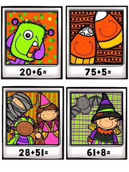 Simple Addition Halloween Math Centers