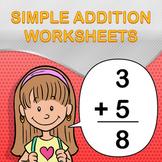 Simple Addition Worksheet Maker - Create Infinite Math Worksheets!