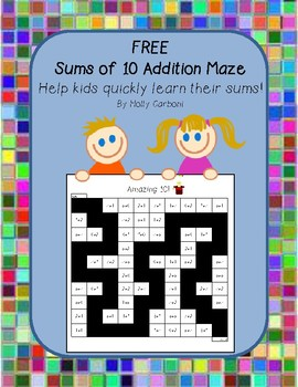 Simple Addition Maze - FREE
