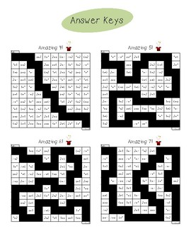 Simple Addition Mazes for Sums 4-10
