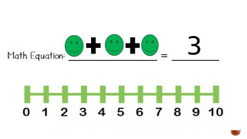Simple Addition PowerPoint using 10 frame and Number Line