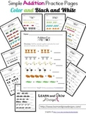 Simple Addition Practice Pages Common Core Aligned