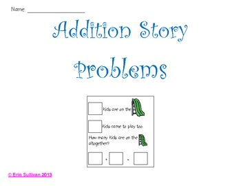 Simple Addition Story Probelms