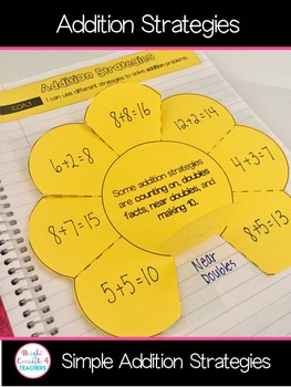 Simple Addition Strategies: Interactive Notebook Activities