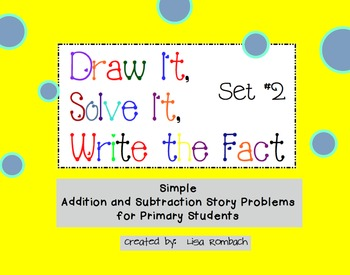 Simple Addition & Subtraction Story Problems SmartBoard lesson Set 2