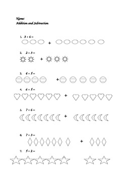 Simple Addition & Subtraction (With Pictures)