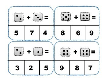 Simple Addition Task Cards
