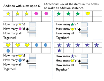 Simple Addition With Sums Up to 6-10 Workbook