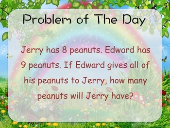 Simple Addition Word Problem of The Day