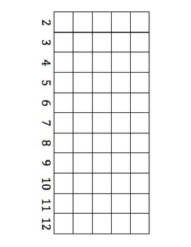 Simple Addition and Graphing File Folder Game