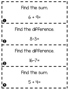 Simple Addition and Subtraction