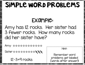 Simple Addition and Subtraction Word Problems