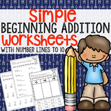 Simple Addition to 10 Worksheets