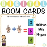 Simple Addition with Fingers - Boom Cards™ Distance Learning