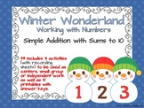 Simple Addition with sums to 10-Winter Wonderland Activity Set & Printables
