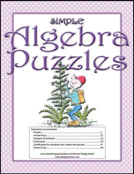 Simple Algebra Puzzles