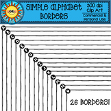 Simple Alphabet Borders Clip Art