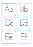 Simple Alphabet Cards — Upper Case, Lower Case, Lined, and