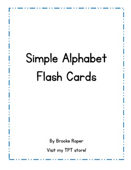 Simple Alphabet Flash Cards