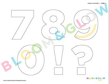 Simple Alphabet Letters
