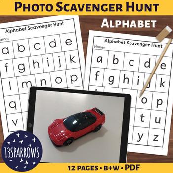 Simple Photo Scavenger Hunt: Alphabet