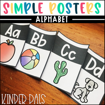 Alphabet Posters- Plain and Simple