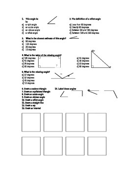 Simple Angles Revision Worksheet