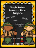 Simple Animal Research Paper Template