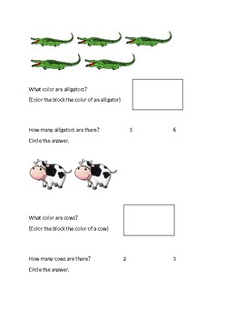 "Simple Animal ""WH"" Questions"