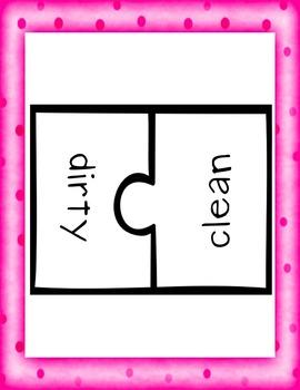 Simple Antonym Puzzle Piece Game