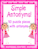 Simple Antonym Puzzle Piece Game