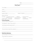 Simple Any Genre BOOK REPORT form Printable