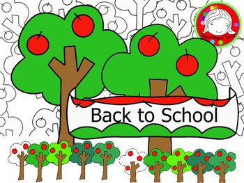 Simple Apple Tree Clipart (Personal & Commercial Use)