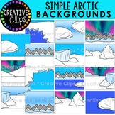 Simple Arctic Background Clipart: Winter Clipart