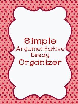 Simple Argumentative Graphic Organizer