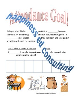 Simple Attendance Goals Sticker Chart