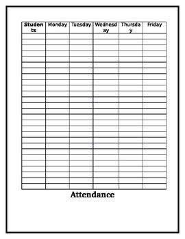 Simple Attendance Sheet