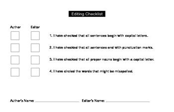 Simple Author and Editor Checklist