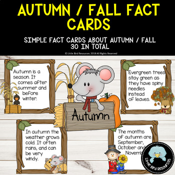 Simple Autumn / Fall  Fact Cards