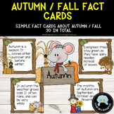 Simple Autumn / Fall  Fact Cards