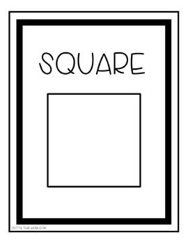Simple B&W 2D Shape Posters
