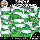 Simple Backgrounds Clipart {Background Clipart}